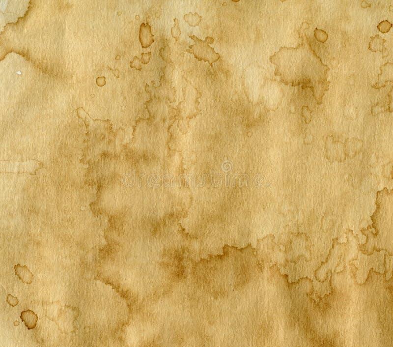 Papper med kaffefläckar royaltyfri bild
