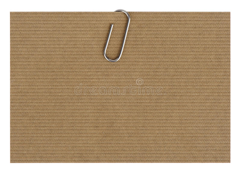 Papper med paperclipen royaltyfria foton