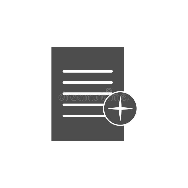 papper med tecknet av tilläggssymbolen Beståndsdelar av rengöringsduksymbolen Högvärdig kvalitets- symbol för grafisk design Teck vektor illustrationer