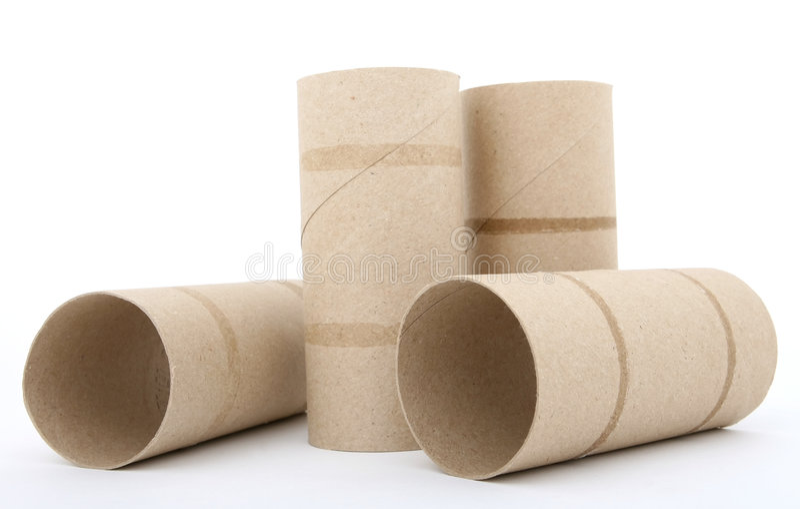 papper rullar toaletten arkivfoto