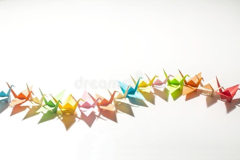 Papper sträcker på halsen origami royaltyfri foto