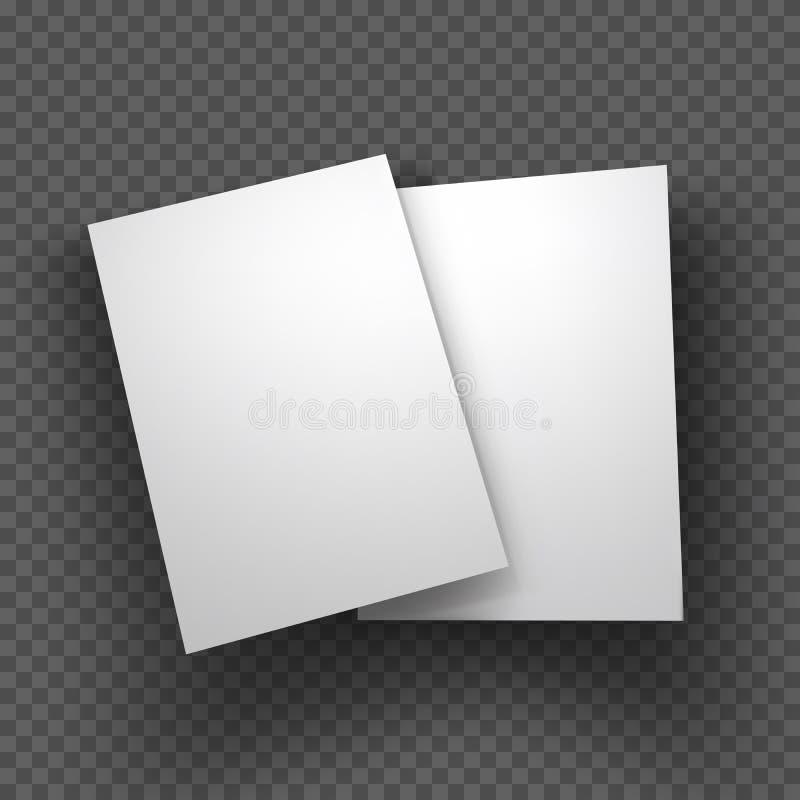 Papper täcker modellen på genomskinlig bakgrund också vektor för coreldrawillustration royaltyfri illustrationer