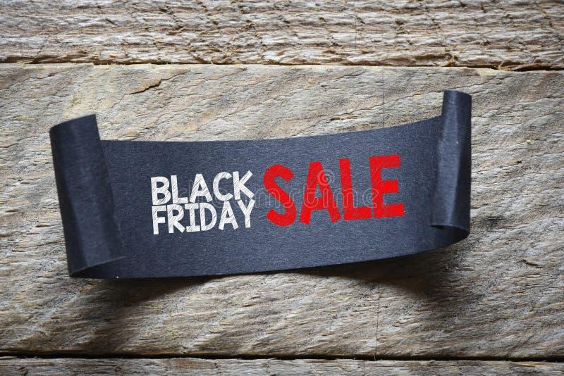 Papper z czarną Piątek sprzedażą zdjęcie royalty free