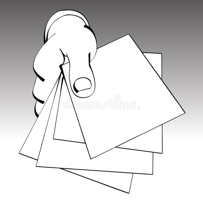 papperen royaltyfri illustrationer