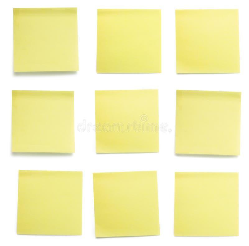 papperen post set yellow royaltyfria bilder