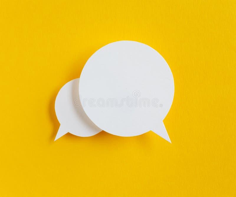 Pappers- anförandebubbla arkivbilder