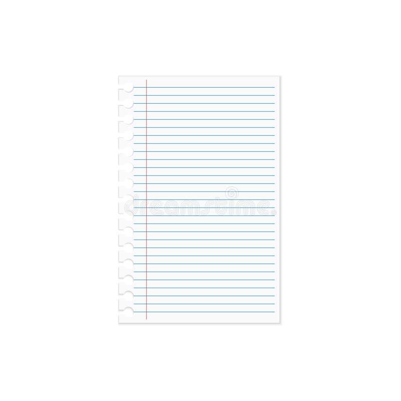 Pappers- anteckningsbok stock illustrationer