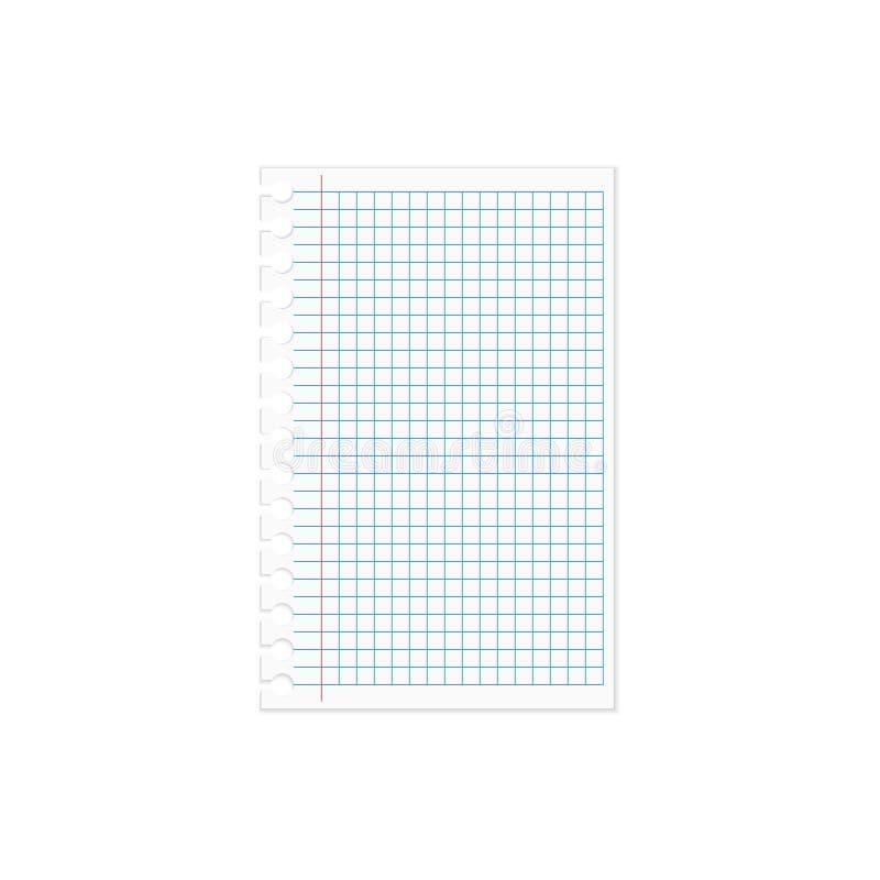 Pappers- anteckningsbok vektor illustrationer