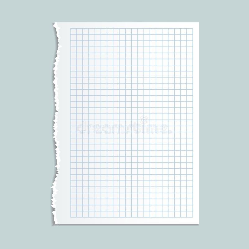 Pappers- begreppsbakgrund för anteckningsbok, realistisk stil royaltyfri illustrationer