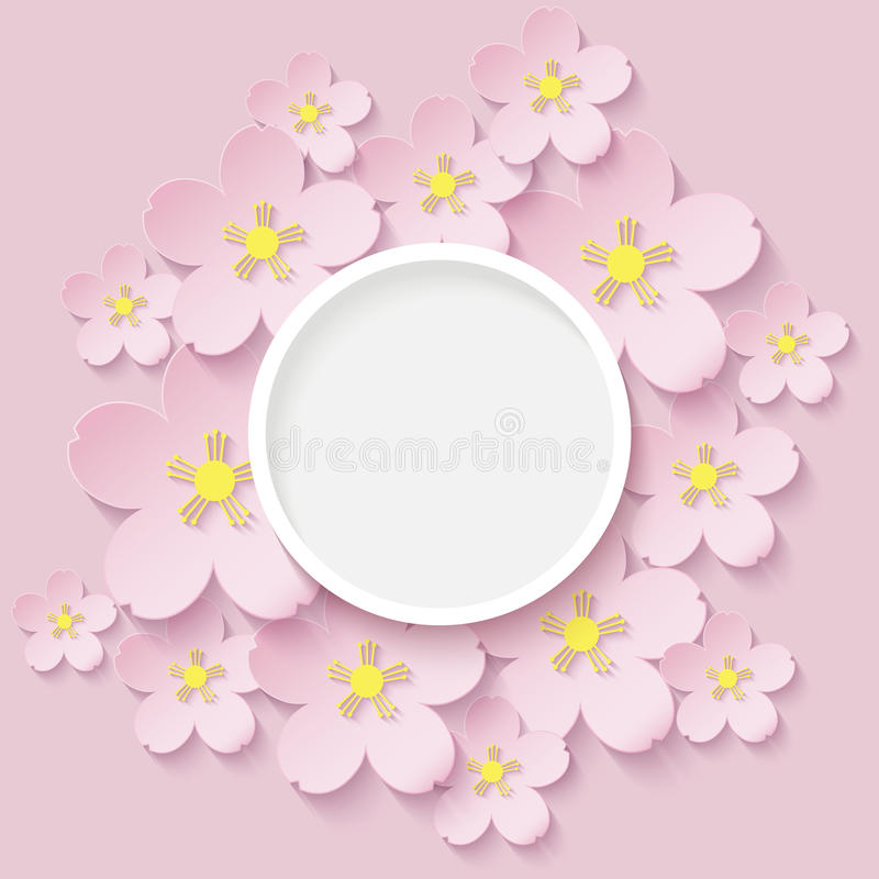 Pappers- blommor av sakura arkivfoto