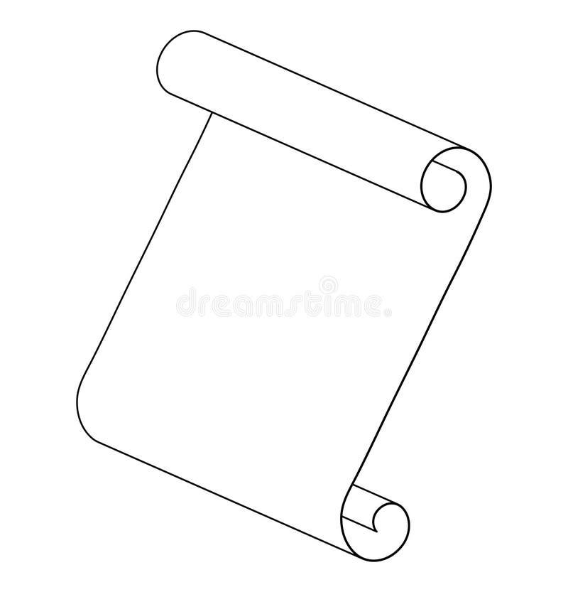 Pappers- design för symbol för symbol för vektor för snirkelöversiktskontur _ stock illustrationer