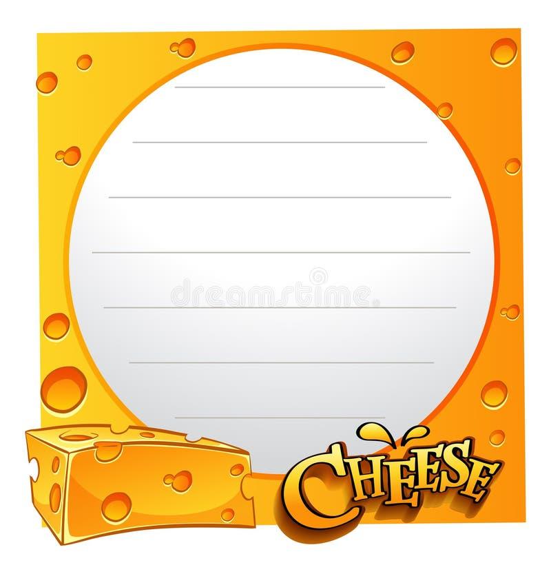 Pappers- design med ost vektor illustrationer