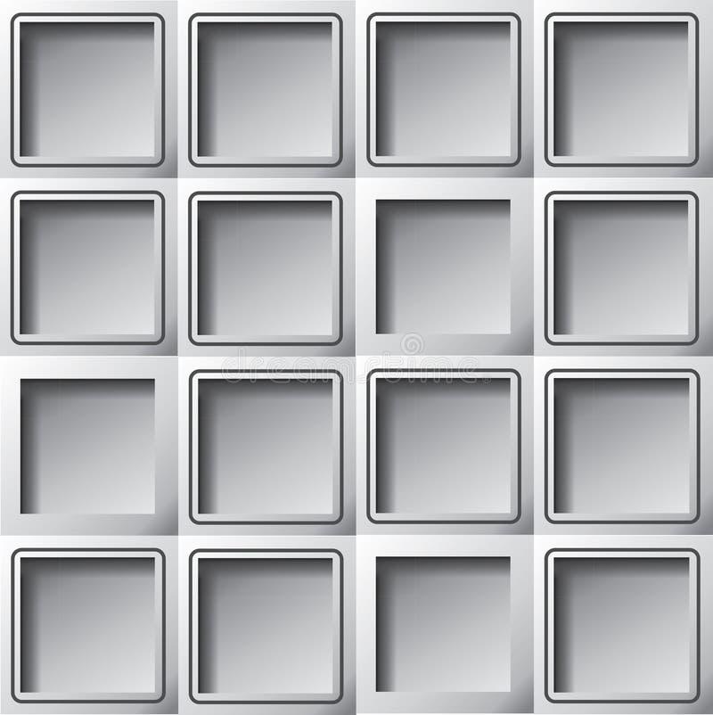 Den pappers- bakgrundsmallen kvadrerar stock illustrationer