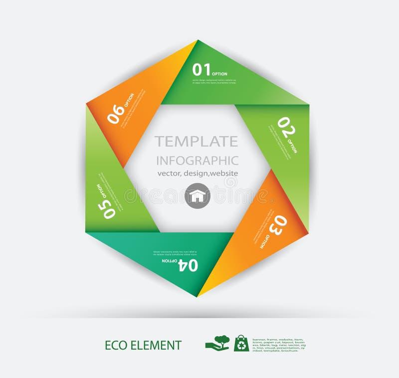 Pappers- eco för vektor och nummerdesignmall. vektor illustrationer