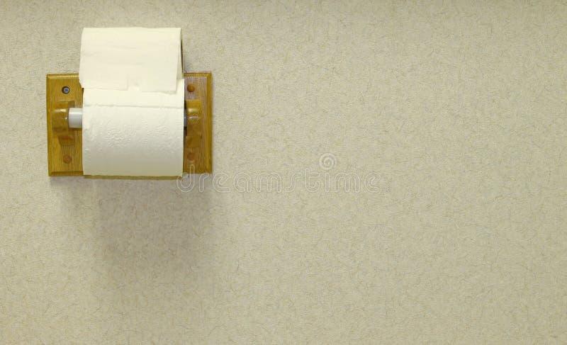 Pappers- hållare för toalett arkivbilder