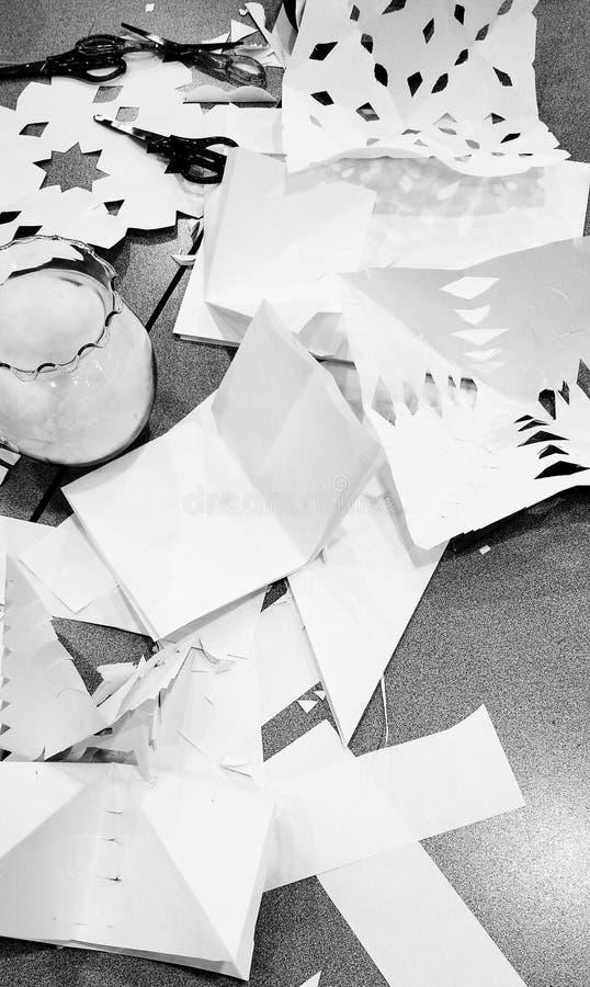 Pappers- hantverk arkivfoton