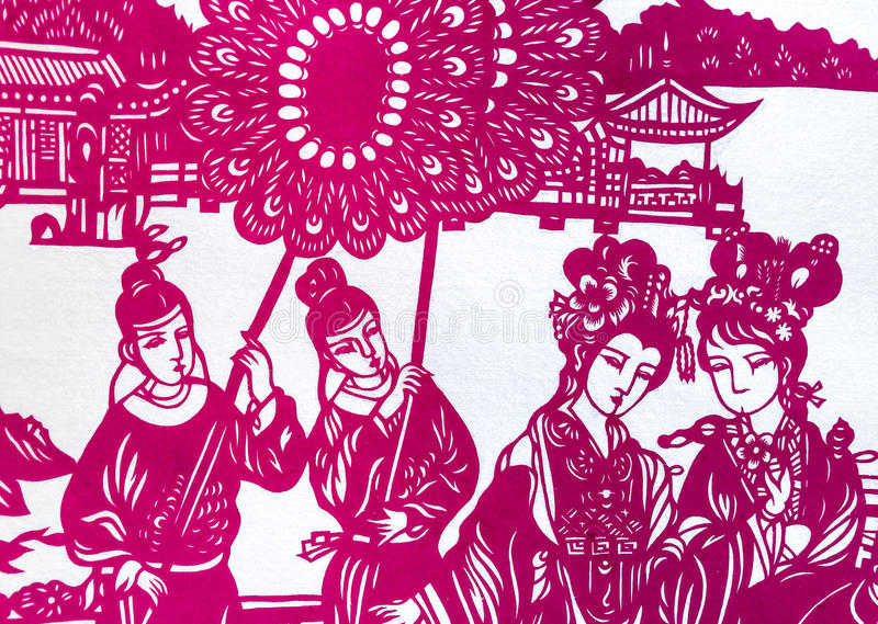 Pappers- hantverk royaltyfri bild