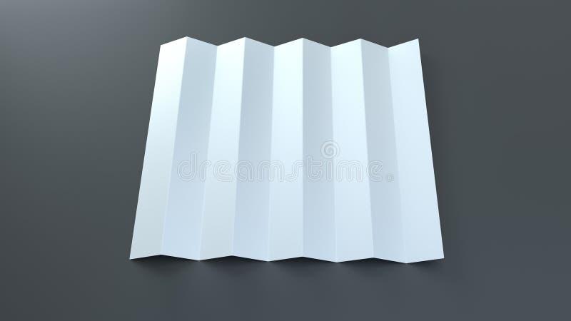 Pappers- hopfällbar clappermodell Mall för tillverkare för oväsen för stadion för sportfan Realistiska 3d framf?r vektor illustrationer