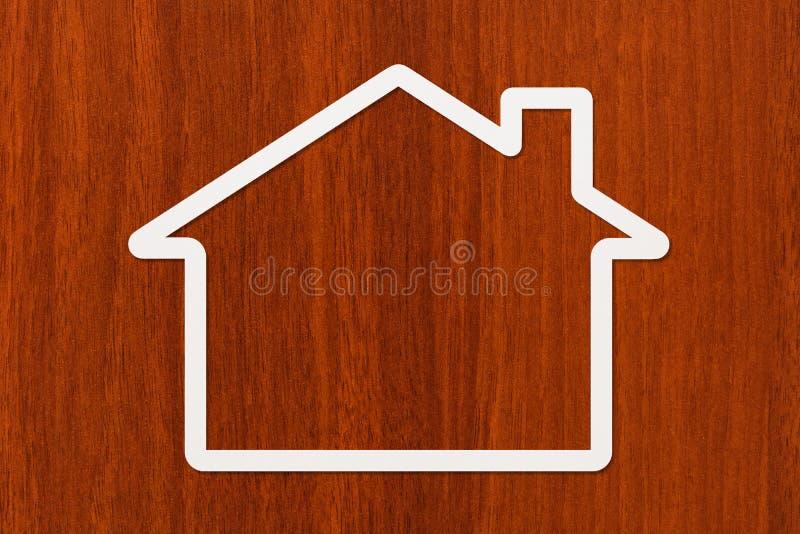 Pappers- hus med copyspace Hus familjbegrepp Abstrakt begreppsmässig bild royaltyfri foto