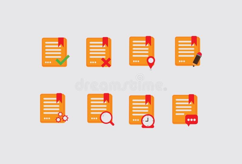 pappers- illustration vektor illustrationer