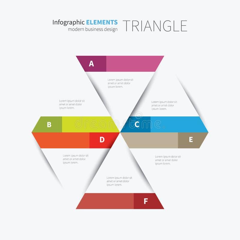 Pappers- infographicstriangeldesign stock illustrationer