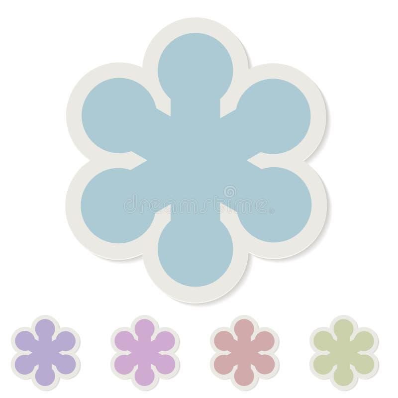Pappers- klistermärke för snöflinga stock illustrationer