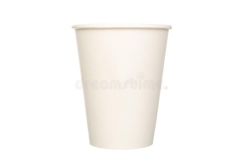 Pappers- kopp som isoleras på vit royaltyfria foton