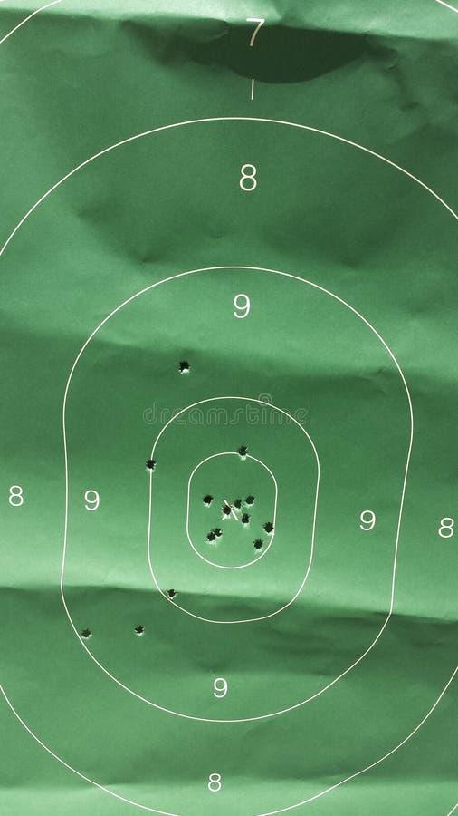 Pappers- mål AR-15 royaltyfria bilder