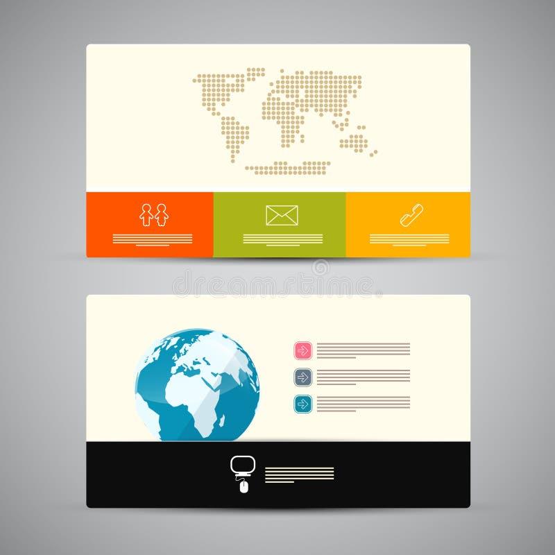 Pappers- mall för affärskort royaltyfri illustrationer