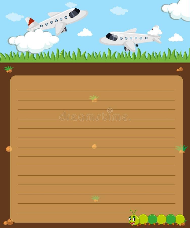 Pappers- mall med att flyga för nivåer stock illustrationer