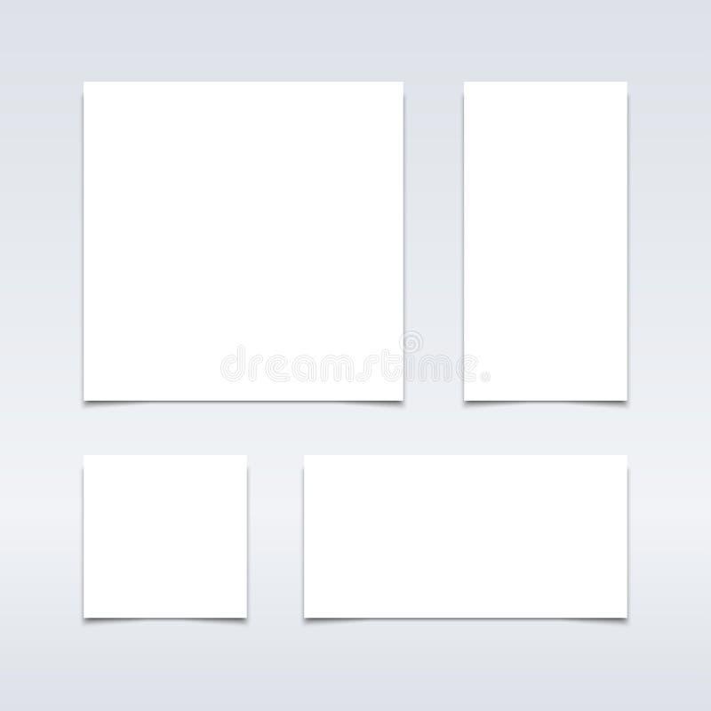 Pappers- modell set-01 vektor illustrationer