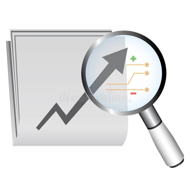 Pappers- och finansiell tillväxt vektor illustrationer