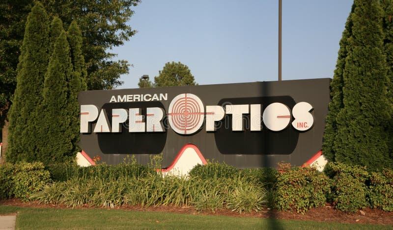 Pappers- optik för amerikan royaltyfri bild