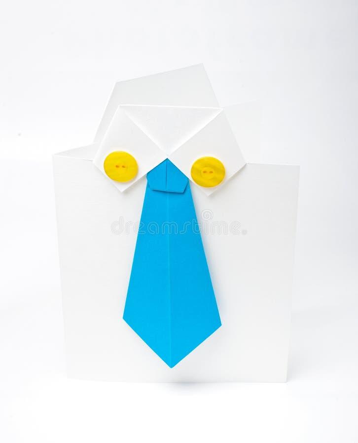 Pappers- origami royaltyfri bild