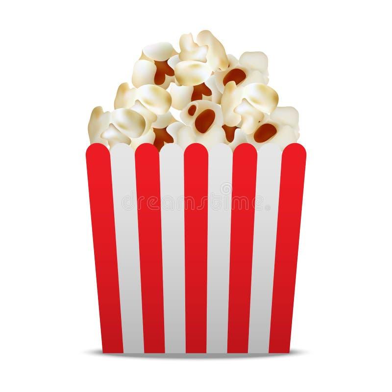 Pappers- popcornaskmodell, realistisk stil vektor illustrationer
