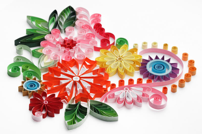 Pappers- quilling arkivfoton