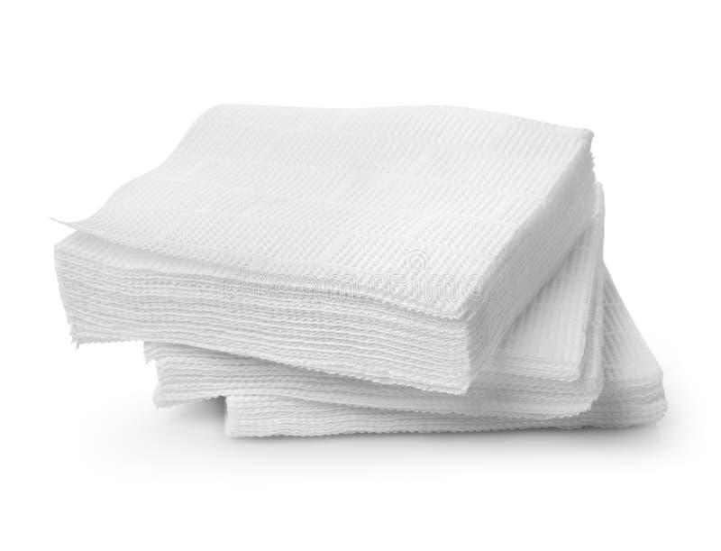 Pappers- servetter royaltyfri bild