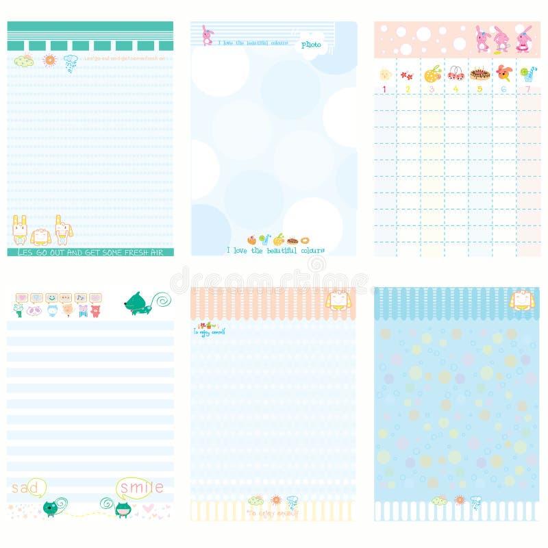 Pappers- stil för anteckningsbokfärgblått arkivfoto