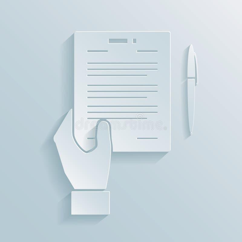 Pappers- symbol av ett affärserbjudande royaltyfri illustrationer