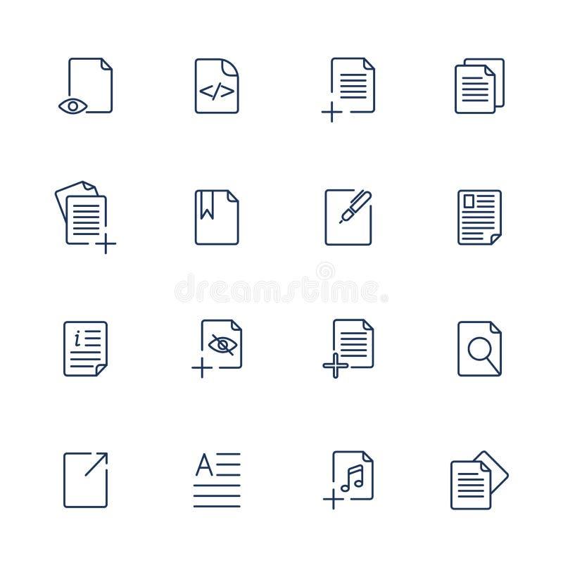 Pappers- symbol, dokumentsymbol, vektor EPS10 vektor illustrationer