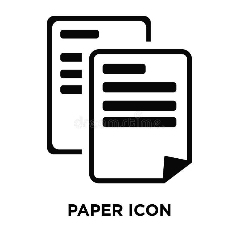 Pappers- symbolsvektor som isoleras på vit bakgrund, logobegrepp av royaltyfri illustrationer