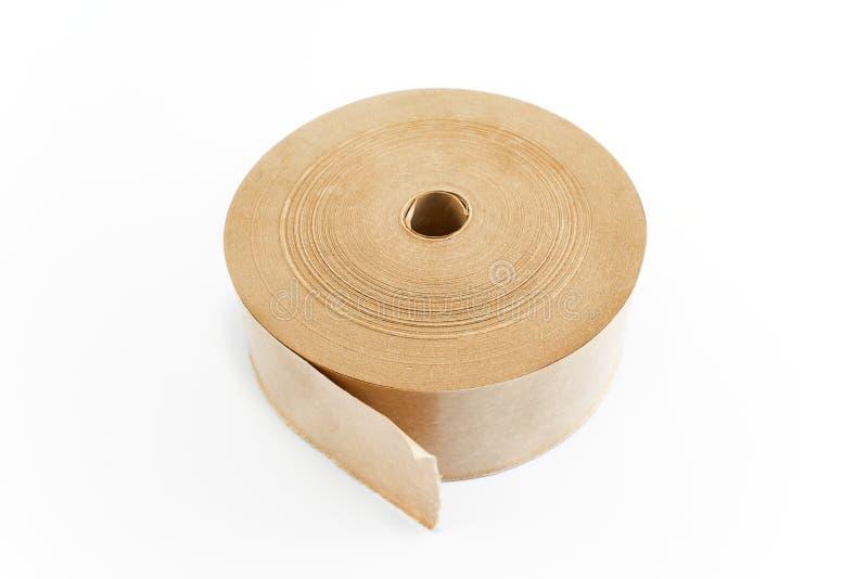 Pappers- tejp för inpackning arkivfoto