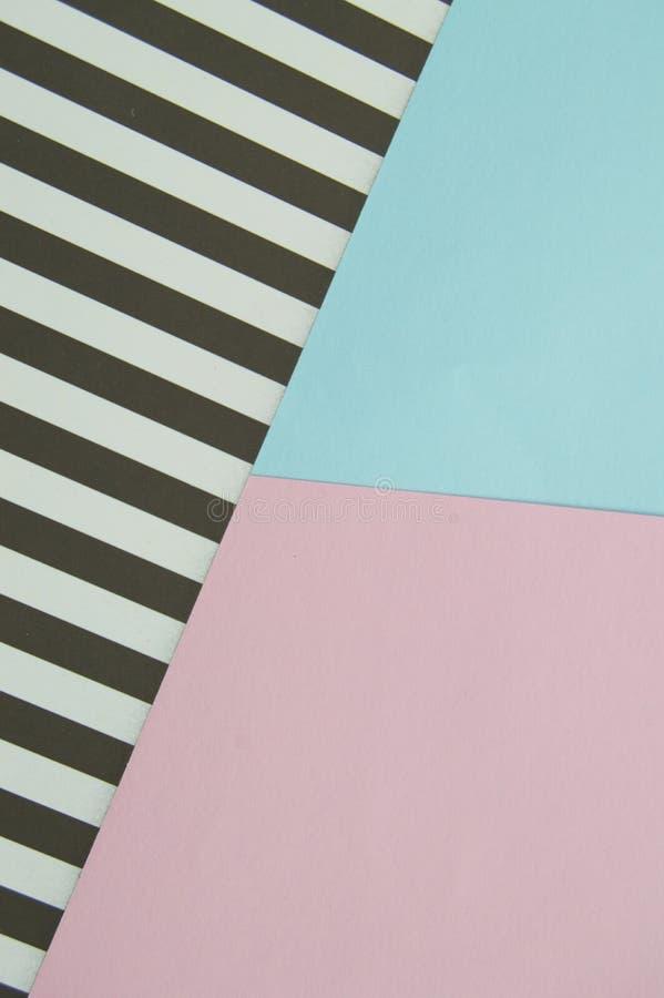 Pappers- textur som är rosa som är blå som är svartvit, orientering för design och bakgrund royaltyfria foton