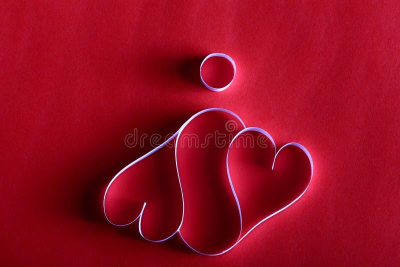 Pappers- valentin för hjärtabakgrundsSt royaltyfri bild