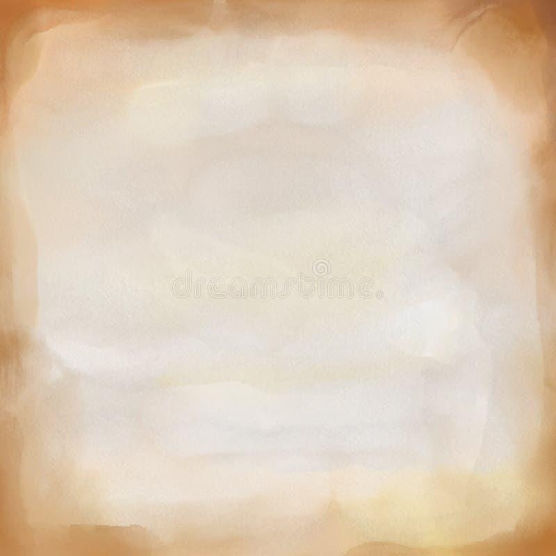 Pappers- vattenfärgbakgrund för tappning royaltyfri illustrationer