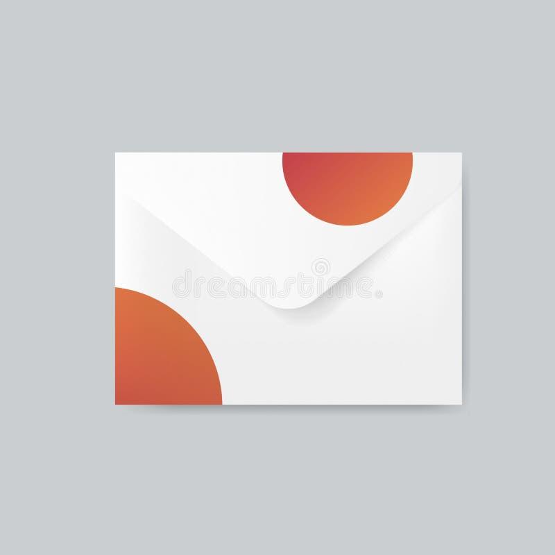 Pappers- vektor för kuvertdesignmodell stock illustrationer