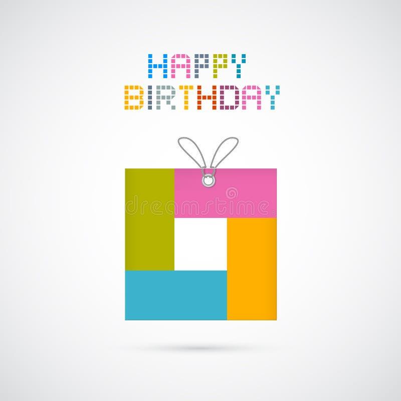 Pappersbakgrund för lycklig födelsedag stock illustrationer