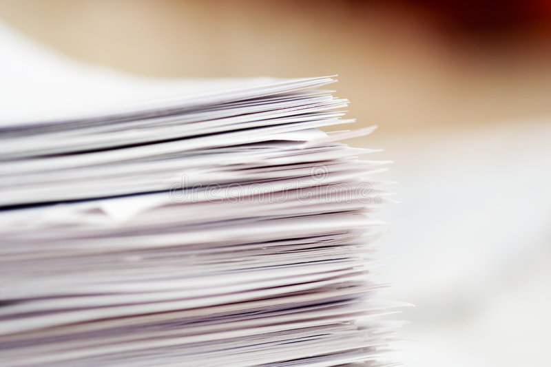 pappersbunt arkivbild