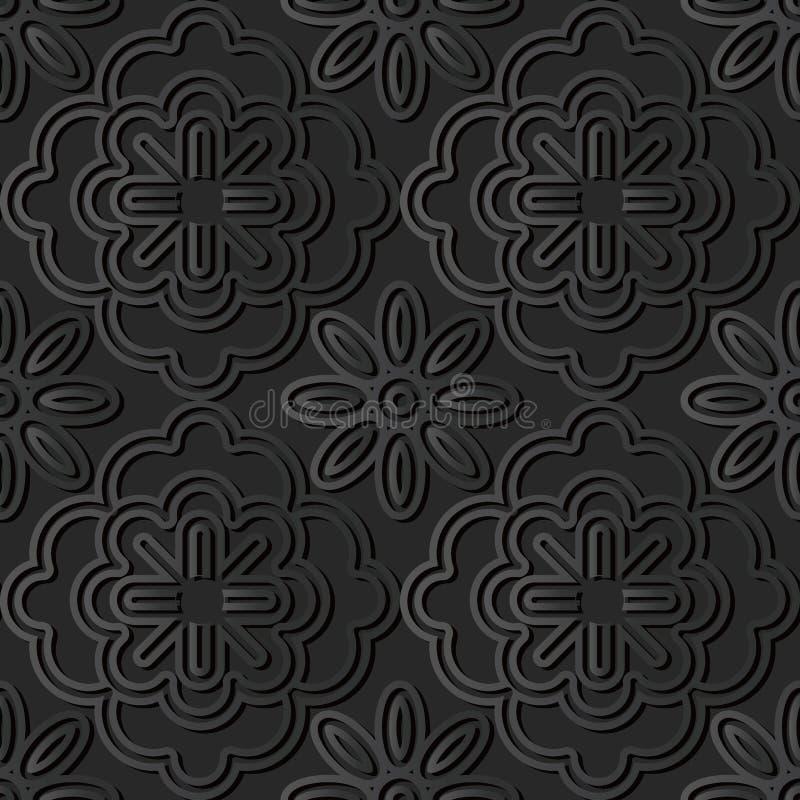 papperskonst för mörker 3D stock illustrationer