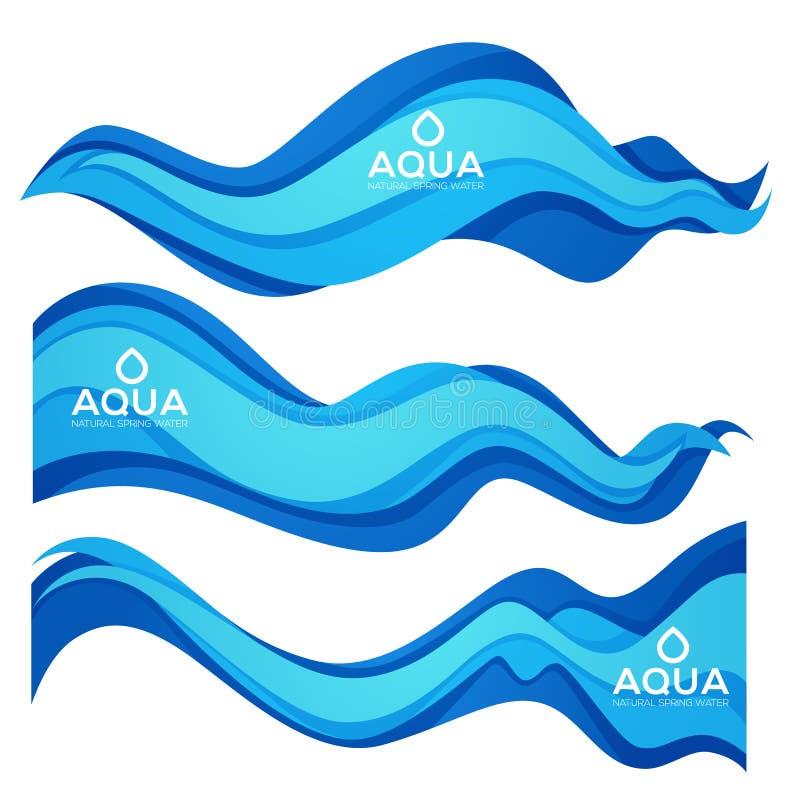 Papperssnittvår Aqua Flow Vector Design Element för ditt modernt vektor illustrationer